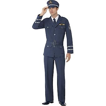 WW2 Air Force Captain Costume, Chest 38
