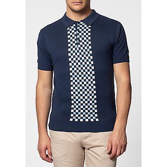 Merc JARVIS, polo avec panneau de contrôle en tricot à manches courtes