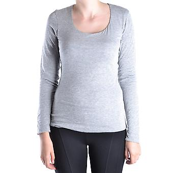 Armani Collezioni Ezbc049082 Women's Grey Cotton Sweater