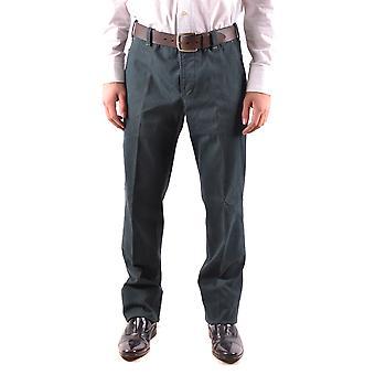 Pt01 Ezbc084051 Men's Green Cotton Pants