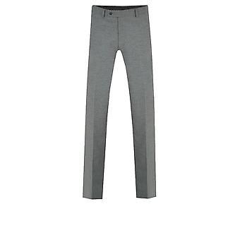 Dobell Mens lys grå bukse Slim Fit