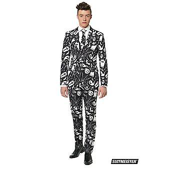 Halloween horror kostuum zwart pak Suitmeister slimline economie 3-delige set