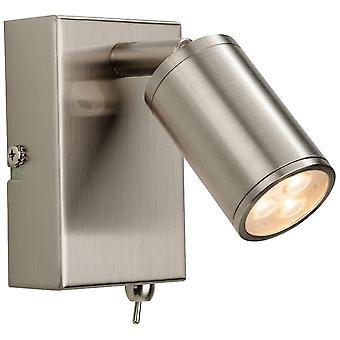 Firstlight-LED 3 luz de pared interior proyector (conmutado) acero cepillado-3453BS