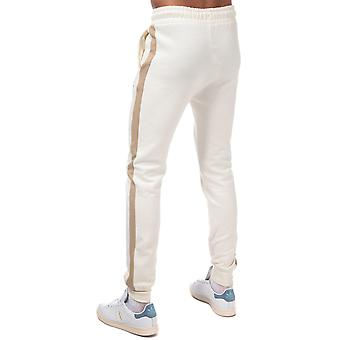 Mens Crosshatch Creymere Jog Pants In Sand-Ribbed Waist And Cuffs-Exterie-