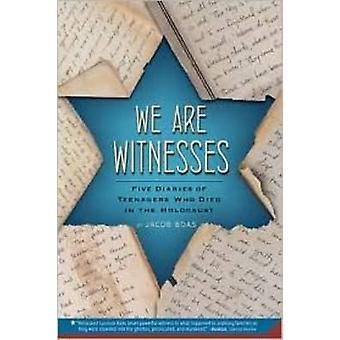 We Are Witnesses - Five Diaries of Teenagers Who Died in the Holocaust