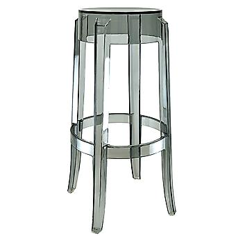 Fusion Living Ghost Style Bar Stool Smoke Grey - 76cm
