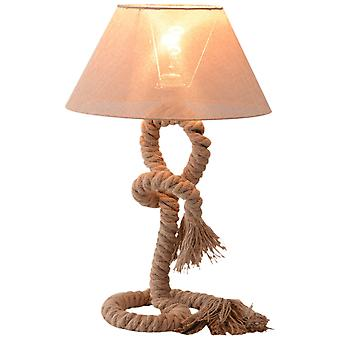 HOMCOM Table Lamp Bedside Light Indispensable Nautical Twisted Rope Glow E27 Bedroom Living Room Beige