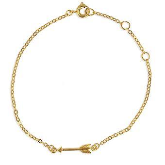 Gold Plated Arrow 18cm Bracelet