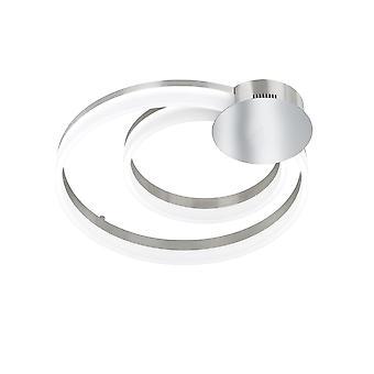 Wofi Soul - Dimmable LED 1 Light Flush Ceiling Light Matt Nickel, Chrome - 9117.01.54.0000