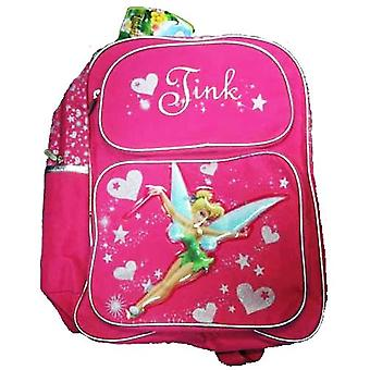 Backpack - Disney - Tinker Bell Pink Large School Bag Nuovo 210310