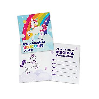 Bristol Novelty Fairytale Unicorn Invitations (Pack Of 8)
