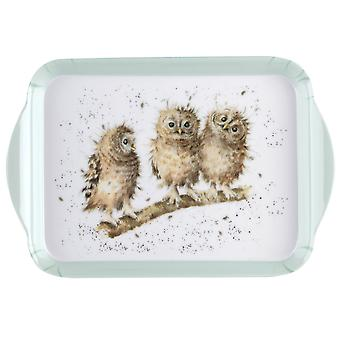 Pimpernel Wrendale Designs Extra Small 21 x 14cm Melamine Scatter Tray, Owl