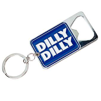 Bud Light Dilly Dilly Metallic Bottle Opener Keychain