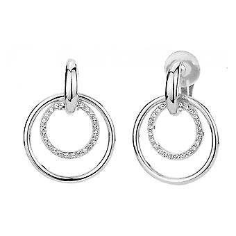 Traveller clip earring - Hanging - rhodium plated - Swarovski Crystals - 157106