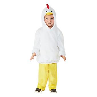 Les tout-petits poulet mignon costumé