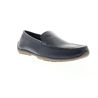 Tommy Bahama Acanto  Mens Blue Leather Casual Slip On Loafers Shoes