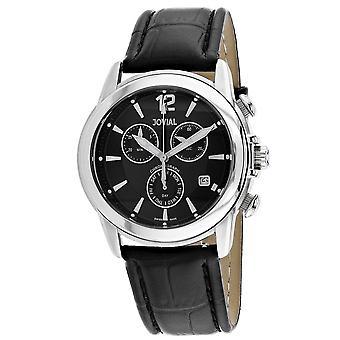 Jovial Men's Classic Black Dial Watch - 04505-GSLC-04