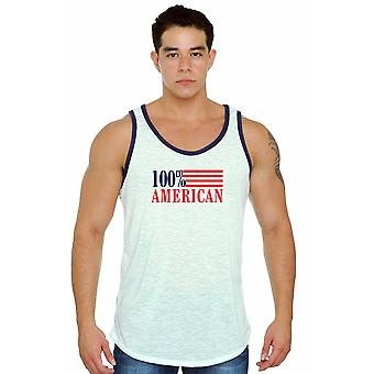 USA Flag Tank Top Men's 100% American Pride