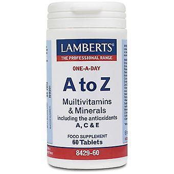 Lamberts A-Z Multivitamins tablets 60 (8429-60)