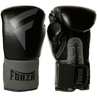 Forza Sports Vinyl Boxing Training Gloves - Black/Gray