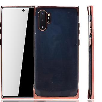Handyhülle für Samsung Galaxy Note 10 Plus Rose Pink - Clear - TPU Silikon Case Backcover Schutzhülle in Transparent   Rose Pink