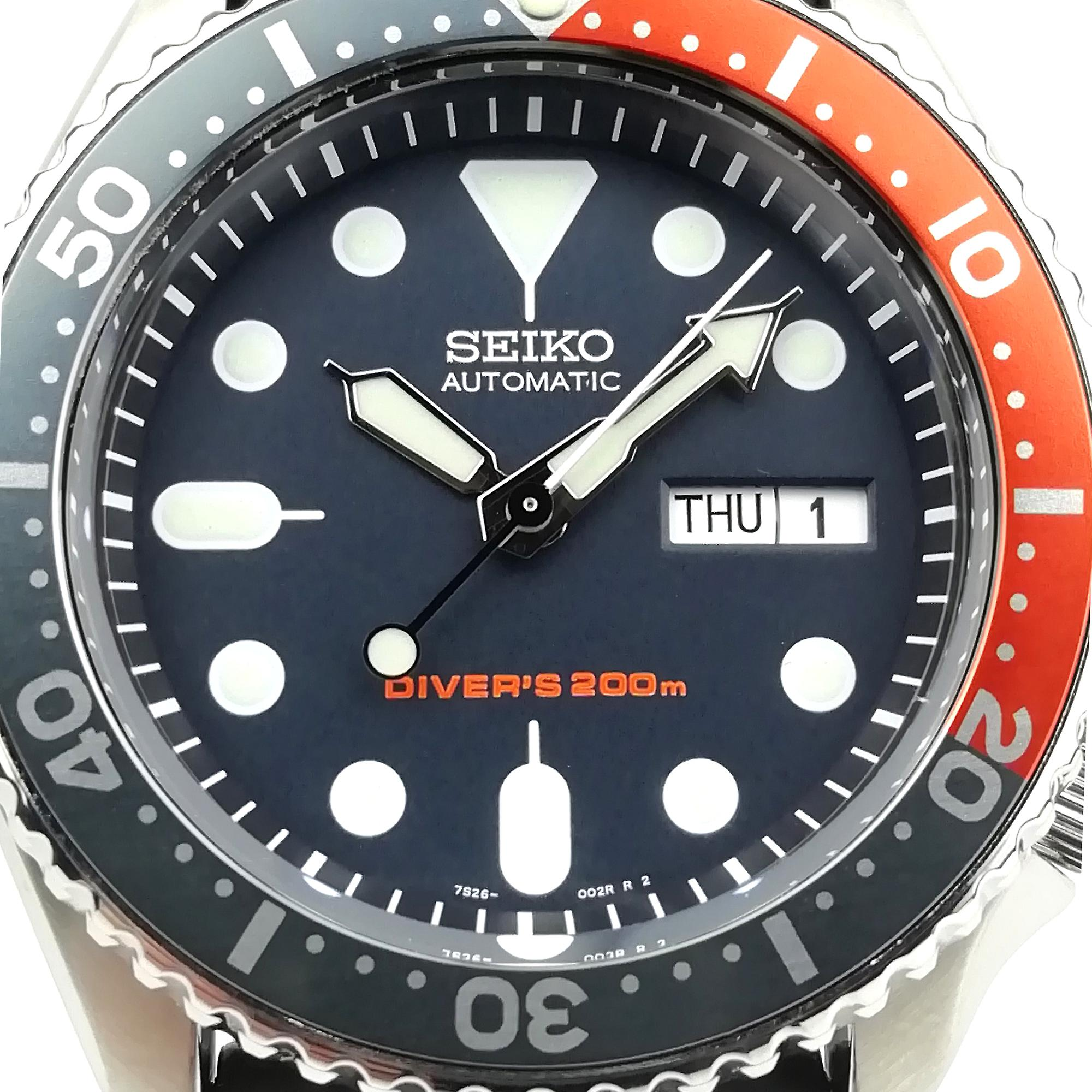 Seiko Customised Divers 200m Automatic 'Piranha' Bezel Mens Watch SKX009K11