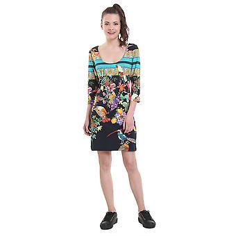 Desigual Women's Alada Flower & Fruit 3/4 Sleeve Dress