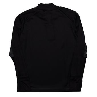 Junior Boys adidas Tiro 17 Training Top In Black- Long Sleeve- Ventilated