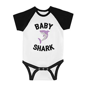Tatuś Mama Baby Shark Rodzina Pasujące T-Shirty Baby Jumpsuit