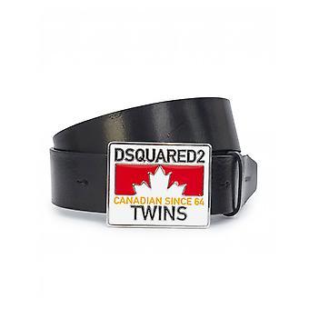 Dsquared2 accesorii semnalizare placa din piele Belt