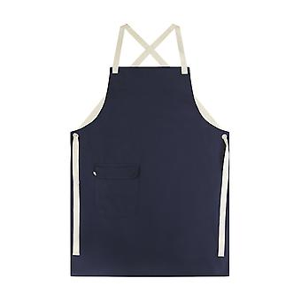 Navy organic cotton work apron #9001