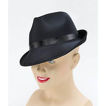 Madness Hat. Sort Fedora.