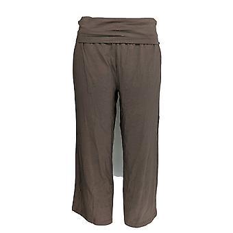 Jeder Frauen's Hose gemütlich stricken Foldover Taille Gaucho braun A289832