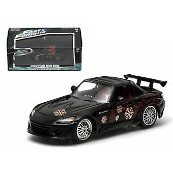 Johnny-apos;s 2000 Honda S2000 Black 'The Fast and The Furious' Movie (2001) 1/43 Diecast Model Car par Greenlight