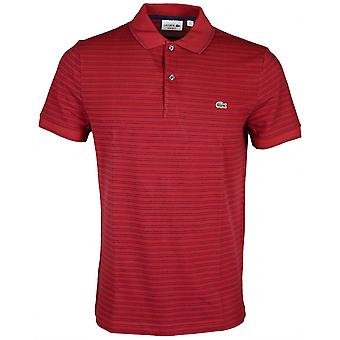 Lacoste Ph9099 Fit Regular Passion röd rand Polo