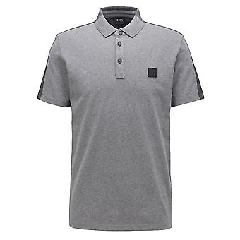 Hugo Boss Casual Hugo Boss Men's Medium Grey Pevided Polo