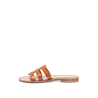 Steve Madden Womens Tammey Leather Open Toe Casual Slide Sandals