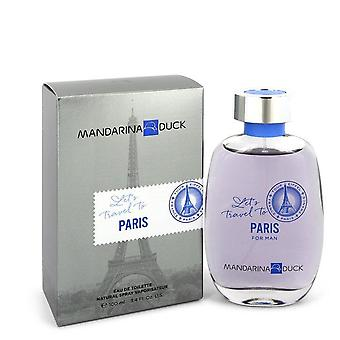 Mandarina ente let's travel to paris eau de toilette spray by mandarina duck 548951 100 ml