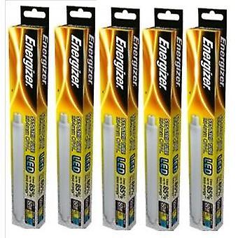 5 X Energizer LED Strip Energy Saving Lightbulb S15 5.5w = 50w 550lm Warm White[Energy Class A+]
