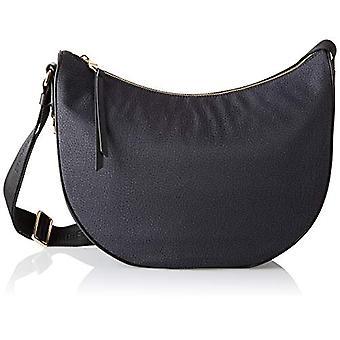 תיק רצועה לונה שחור של בורבונז-תיק לנשים שחורות 30x32x12 ס מ (W x H x L)