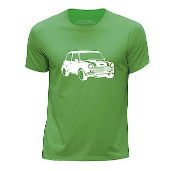 STUFF4 Boy's wokół szyi samochód Shirt/Stencil Art / Mini/zielony