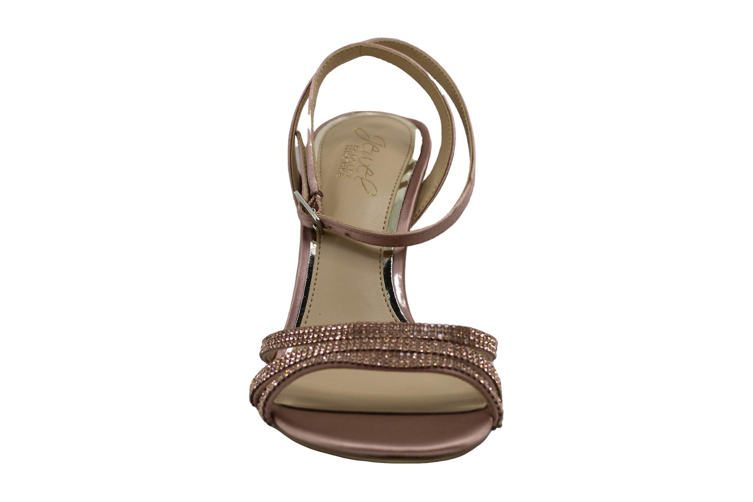 Jewel Badgley Mischka Kobiety&s Sparkle Heeled Sandał, Srebro, 7 M Stany Zjednoczone