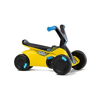 BERG GO2 2-in-1 Pedal Go Kart SparX Yellow Baby and Toddler Go Kart Ride and
