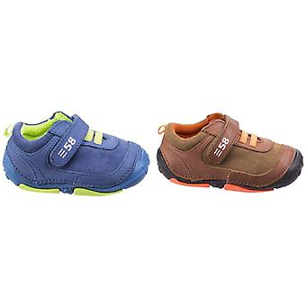 Hush Puppies Childrens/Boys Harry Touch Fastening Leather Trainers