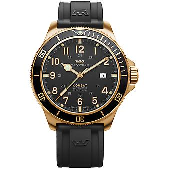 Combat Analog Men's Automatic Watch with Silicone Bracelet GL0292