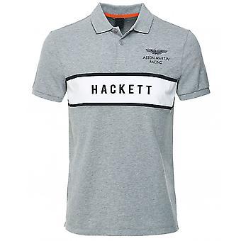 Hackett Slim Fit Logo Panel Polo Shirt