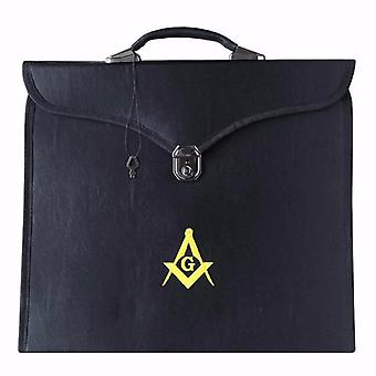 Masonic mm/wm and provincial full dress yellow square compass cases ii