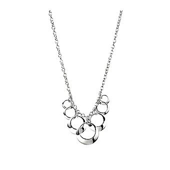 Joshua James Motive Silver Circles Necklace