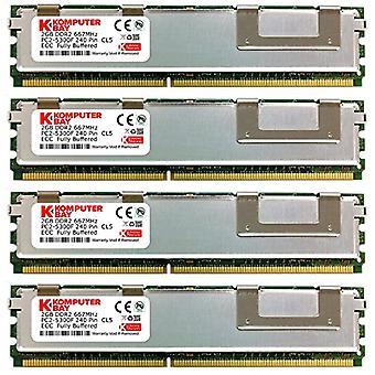 Komputerbay 8GB (4x 2GB) DDR2 PC2-5300F 667MHz CL5 ECC Fully Buffered 2Rx4 FB-DIMM (240 PIN) with heat sinks