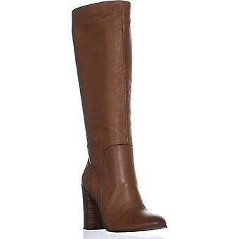 Kenneth Cole Womens Justin Leather Almond Toe Knee High Fashion Boots